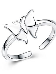 jazlyn platine authentique plaqué argent 925 sterling belle papillon anneau réglable enfants ajustement