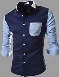 Сэм мужские случайные воротник рубашки с длинным рукавом рубашки случайные