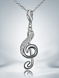 Party/Work/Casual Silver Plated Music Pendant Necklace