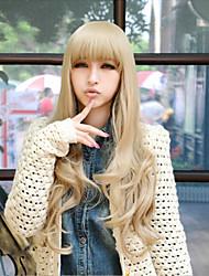 nouveaux cheveux style blone de vague naturelle perruques synthétiques vague perruques de cheveux fashion
