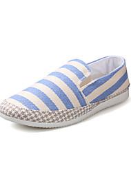 Zapatos de Hombre-Sneakers a la Moda-Deporte-Tela-Azul / Rojo