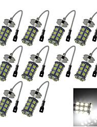 10X 27 5050 SMD LED H3 Bulb White Fog Light Parking Low High Beam Lamp DC 12V H055