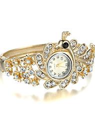 Mulheres Relógio de Moda Quartz Lega Banda Bracelete Dourada marca-