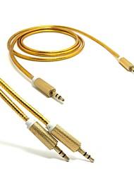 3.5mm câble audio 3,5 mm mâle à câble aux hommes pour la voiture / casque / pm4 / PM3