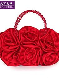 AIKEWEILI®Women's Bag Fashion Silk Flower Evening Bag Korean Style Casual Clutch Bag Wedding Paty Bags