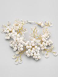 Women's Chain Bracelet Alloy/Faux Fur Crystal/Imitation Pearl/Rhinestone