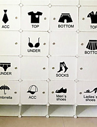 Wall Stickers Wall Decals , Clothing Category Wardrobe Stickers