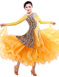 High-quality Tulle/Velvet with Rhinestones Performance Dresses for Ladies