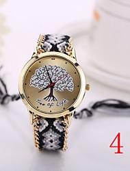 New Fashion Quartz  TreeWatch Woven Fabric Gold Chain Bracelet Watch Women Nation Style Women Watches Ladies Wristwatch
