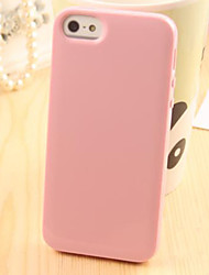For iPhone 5 Case Other Case Back Cover Case Solid Color Soft TPU iPhone SE/5s/5