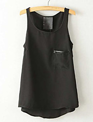 Women's Red/White/Black Blouse Sleeveless