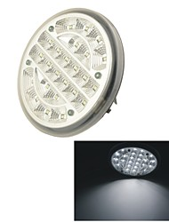 GT-690 Car 24 LED 14cm Dia Round Dome Roof Ceiling Interior Light Lamp-White Light(1PCS)