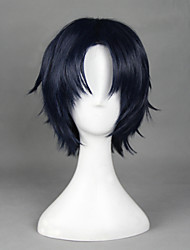 Cosplay Wigs Seraph of the End Cosplay Ink Blue Short Anime Cosplay Wigs 32 CM Heat Resistant Fiber Male / Female