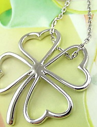 Sweet OL Temperament Brief Hollow-out Clovers Collarbone Chain Necklace