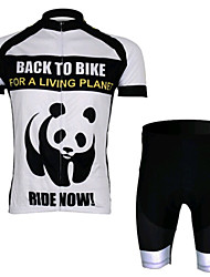 Green Panda Short Sleeved Suit Riding, Moisture Cycling Wear, Motor Function Material