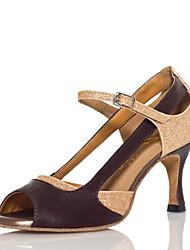 Zapatos de baile ( Oro ) - Salsa - No Personalizable - Tacón de estilete