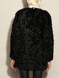 Casacos de Pêlo ( preto ) - Lá/Pele de Carneiro - Manga Comprida