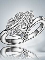 Hot Selling Products S925 Silver Plated Leaf Design Ring Wedding Jewelry for Men And Women