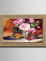 peintures à l'huile un panneau fleurs abstraites modernes lin naturel prêt à accrocher peints à la main
