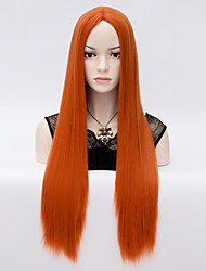 European Style Fashion Hair Orange High Quality Synthetic Wigs