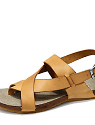 Men's Shoes Outdoor Leather Sandals Brown