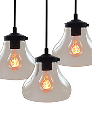 WestMenLights Industrial Clear Glass Pendant Ceiling Light Vintage Bell Hanging Lamp 1 Piece