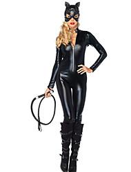 Fiesta de disfraces de Halloween Wild Catwoman Negro Cuero de la PU de la Mujer