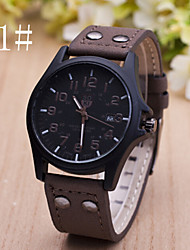 Men's  Watch New Casual Leather Calendar Belt Watch Wrist Watch Cool Watch Unique Watch Fashion Watch