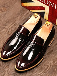 Men's Shoes Office & Career/Party & Evening/Casual Leather Oxfords Black/Brown/Burgundy