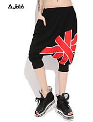 Women's Union Jack Printed Hip-hop Street Dancing Elastic Modal Short Harem Pants
