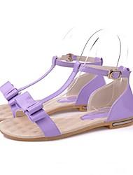 Women's Shoes Flat Heel Comfort Maid Sandals Casual Black/Green/Beige with Buckle