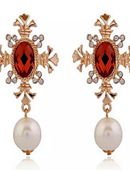 Lusa Pearl Pendant Earrings