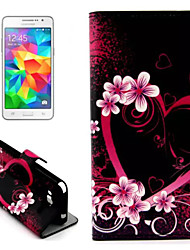 Plum Blossom Pattern with Card Bag Full Body Case for Samsung Galaxy Grand Prime G530