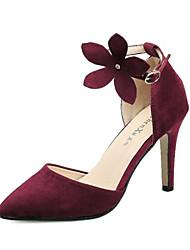 Scarpe Donna Felpato A stiletto Tacchi/A punta Scarpe col tacco Formale/Serata e festa Nero/Rosso