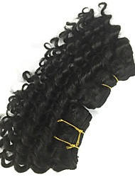 2 Pcs Lot 5 and 7 Inch Brazilian Virgin Hair #1B Deep Wave Human Hair Weave  Curly Hair Products