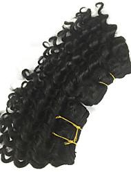 """1 peças lote 8 """"brasileiro virgem do cabelo # 1b do cabelo humano extensões brasileiras madeixas de cabelo onda profunda"""