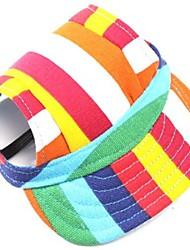 Собаки Банданы и шляпы Красный Оранжевый Зеленый Синий Черный Розовый Одежда для собак Лето Весна/осень Полоски Мода Праздник