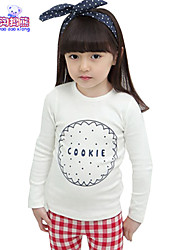 Waboats Winter Kids Girls Round Neck Printed Long Sleeve Top