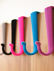 10PCS Creative Coat Hooks Bag Hooks Door Hooks Random Color