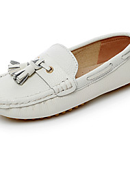 Boys' Shoes Comfort Leather Loafers White/Black/Royal Blue