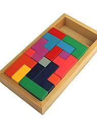 puzzle en bois tetris pan d'assemblage stéréo domino