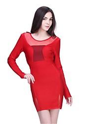 Cocktail Party Dress - Ruby Petite Sheath/Column Jewel Short/Mini Spandex / Nylon Taffeta