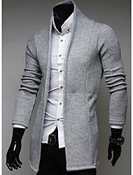 Suéteres ( Algodón Compuesto )- Casual Escote en V Manga Larga para Hombre