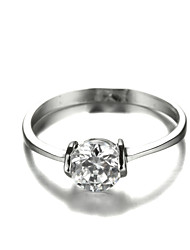 Statement Rings Cubic Zirconia Platinum Plated Simulated Diamond Fashion Screen Color Jewelry Wedding Party 1pc