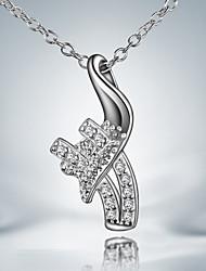 vente de promotion tenue décontractée collier pendentif en argent plaqué déclaration bijoux