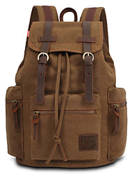 Unisex Canvas Sports / Outdoor Backpack Green / Yellow / Brown / Black