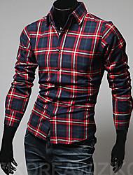Hot Sell Summer Style 2015 Brand Long-Sleeve Shirt Men Clothes Slim Fit Shirt