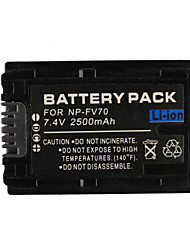 FV70 2500mAh Camcorder Battery for Sony HDR-XR HDR-CX HDR-HC Series