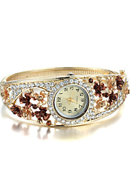 Sjewelry Female Colorful Watch 24K Gold Plating Bracelet Cool Watches Unique Watches Fashion Watch