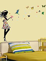 stickers muraux stickers muraux, les filles salle papillon coloré mur de pvc autocollants